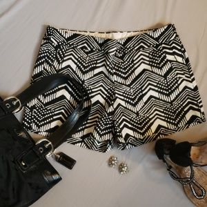 J Crew black and white patterned shorts